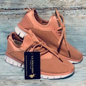 U.S. Polo Assn Girls Rose Sneaker Sport Shoes 3Y